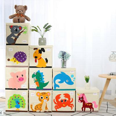Foldable Cartoon Storage Bins Toy Baskets Closet Shelves