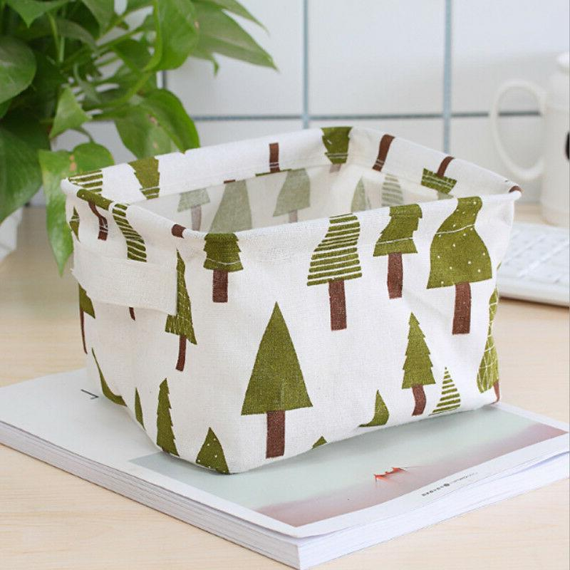 Desk Sundries Boxes Printed Cosmetic Basket Box