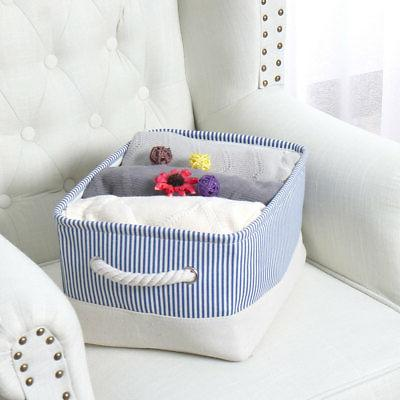 Collapsible Storage Bin Fabric Organizer Container for Shelves