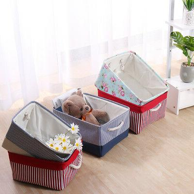 Collapsible Storage Basket Bin Fabric Container for
