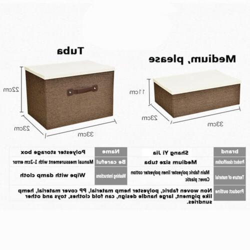 Foldable Closet Storage Bag Clothes Organizer Box Drawer