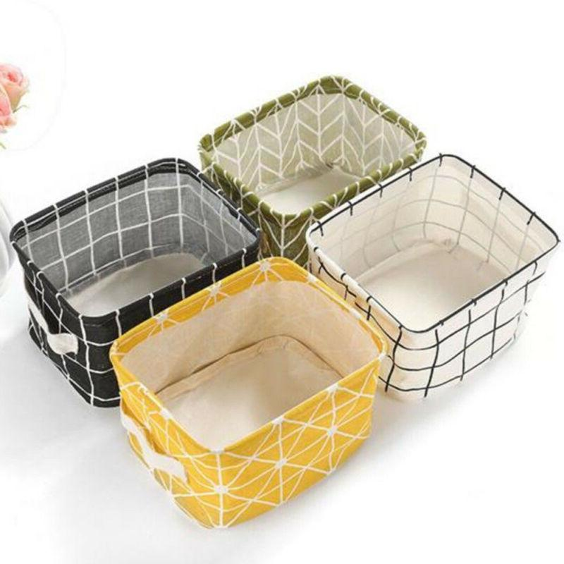 Square Storage Collapsible Folding Box Fabric Cubes Toys Basket