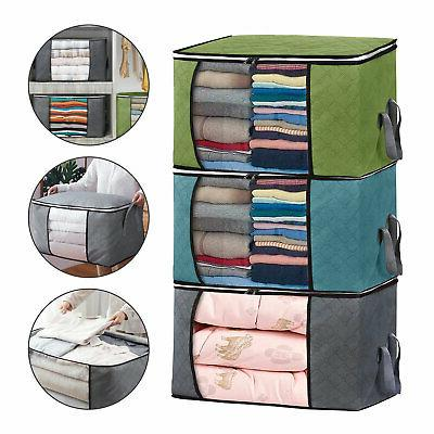 foldable storage bag clothes blanket quilt closet