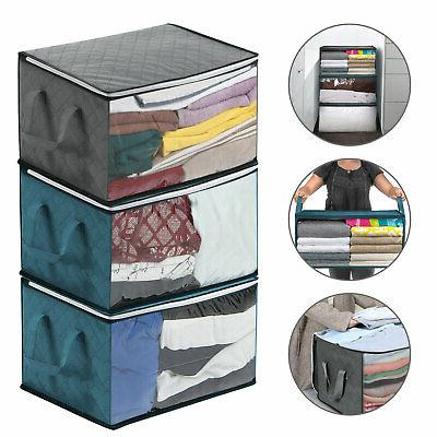 foldable storage bag clothes blanket quilt closet