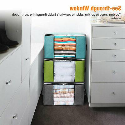 Foldable Storage Blanket Quilt Sweater Organizer
