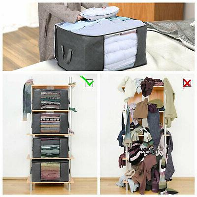 Foldable Storage Clothes Blanket Quilt Closet Organizer Box