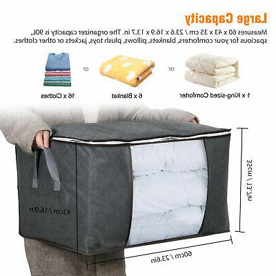 Foldable Storage Blanket Quilt Sweater Organizer Box Pouch US