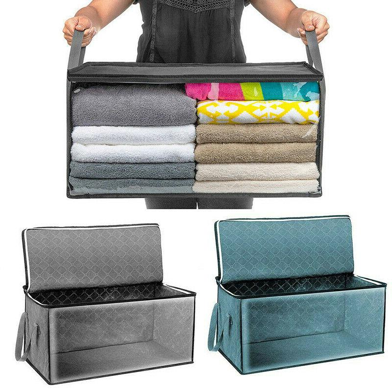 foldable storage bag clothes blanket sweater quilt