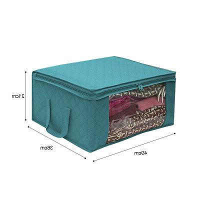 Foldable Blankets Quilt Closet Container Storage