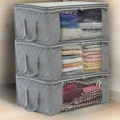 Foldable Blankets Closet Container Storage
