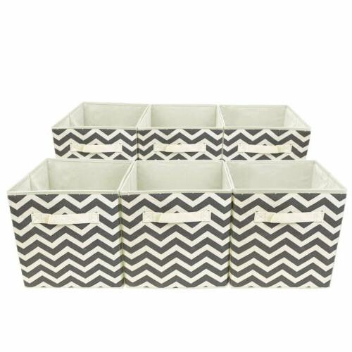 Sorbus Foldable Cube Basket Bin, Pattern