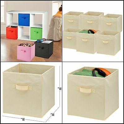 Foldable Storage Cubes 6 Pack Collapsible Fabric Bins Shelf