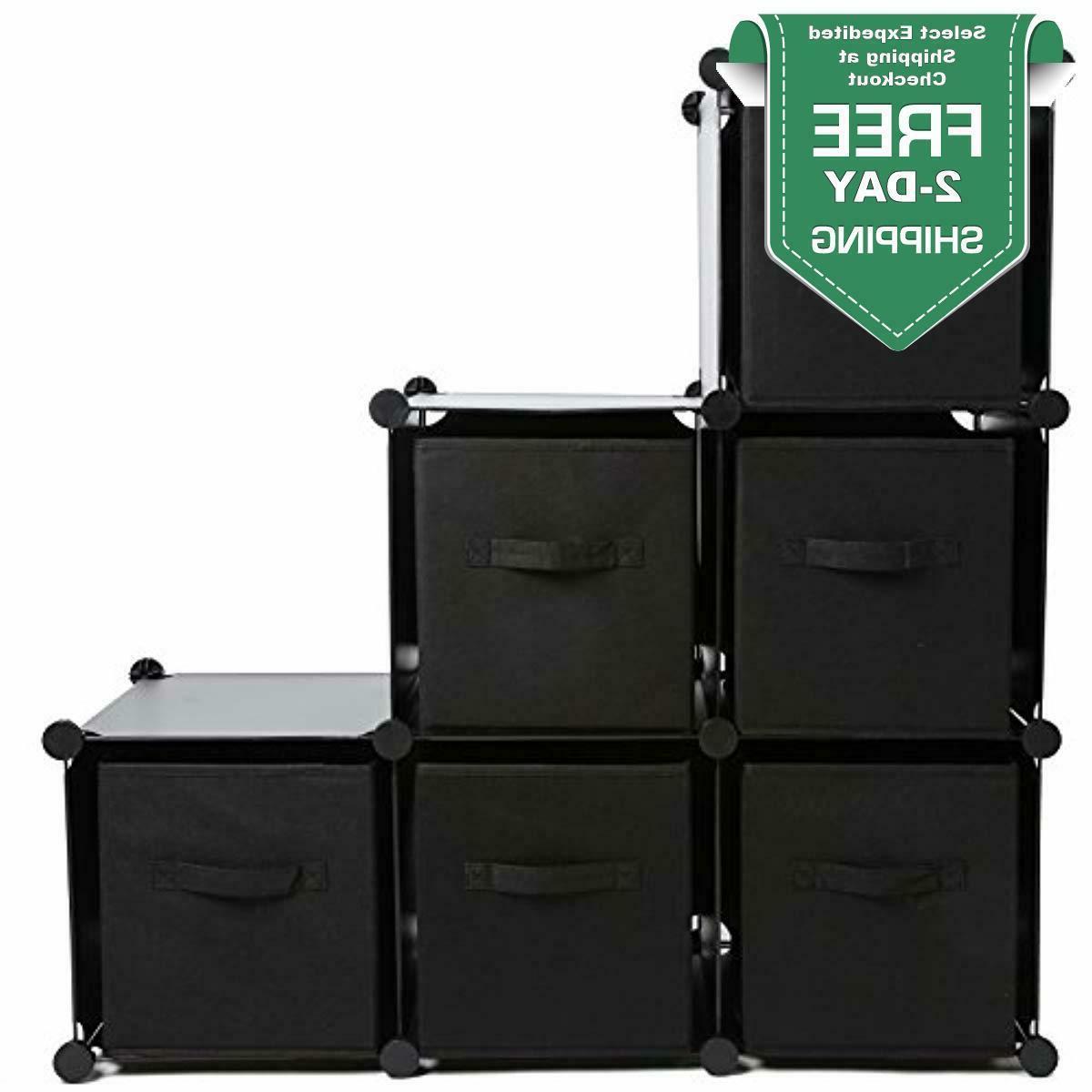 Foldable Storage Organizer Basket Bins Shelf