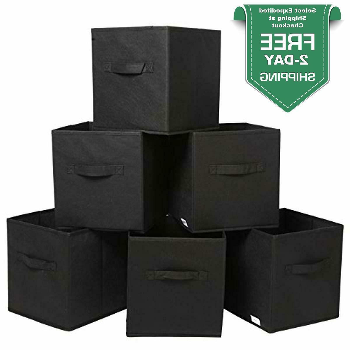 foldable storage cubes organizer basket box collapsible