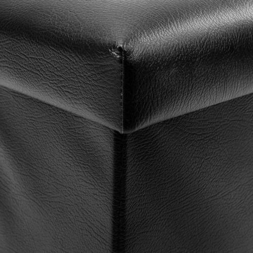 Folding Leather Storage Storage Cabinet Box Lounge Seat Foot