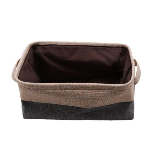 Folding Square Canvas Drawer Cloth Bag Practical