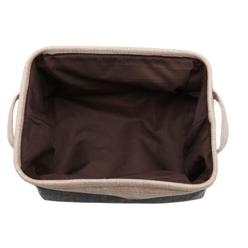 Folding Square Storage Canvas Cloth Bag Practical