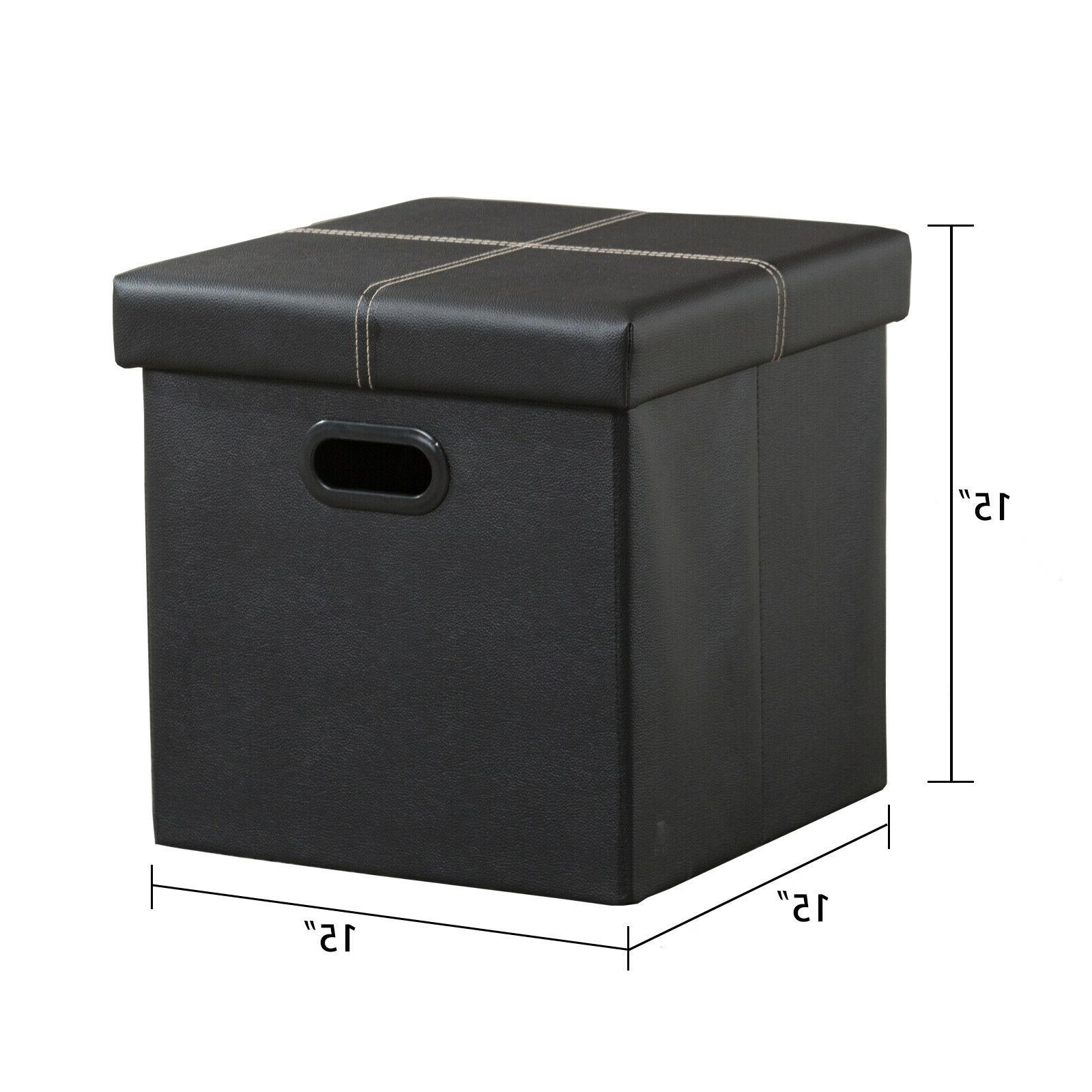 Folding Storage Box Rest Stool Home