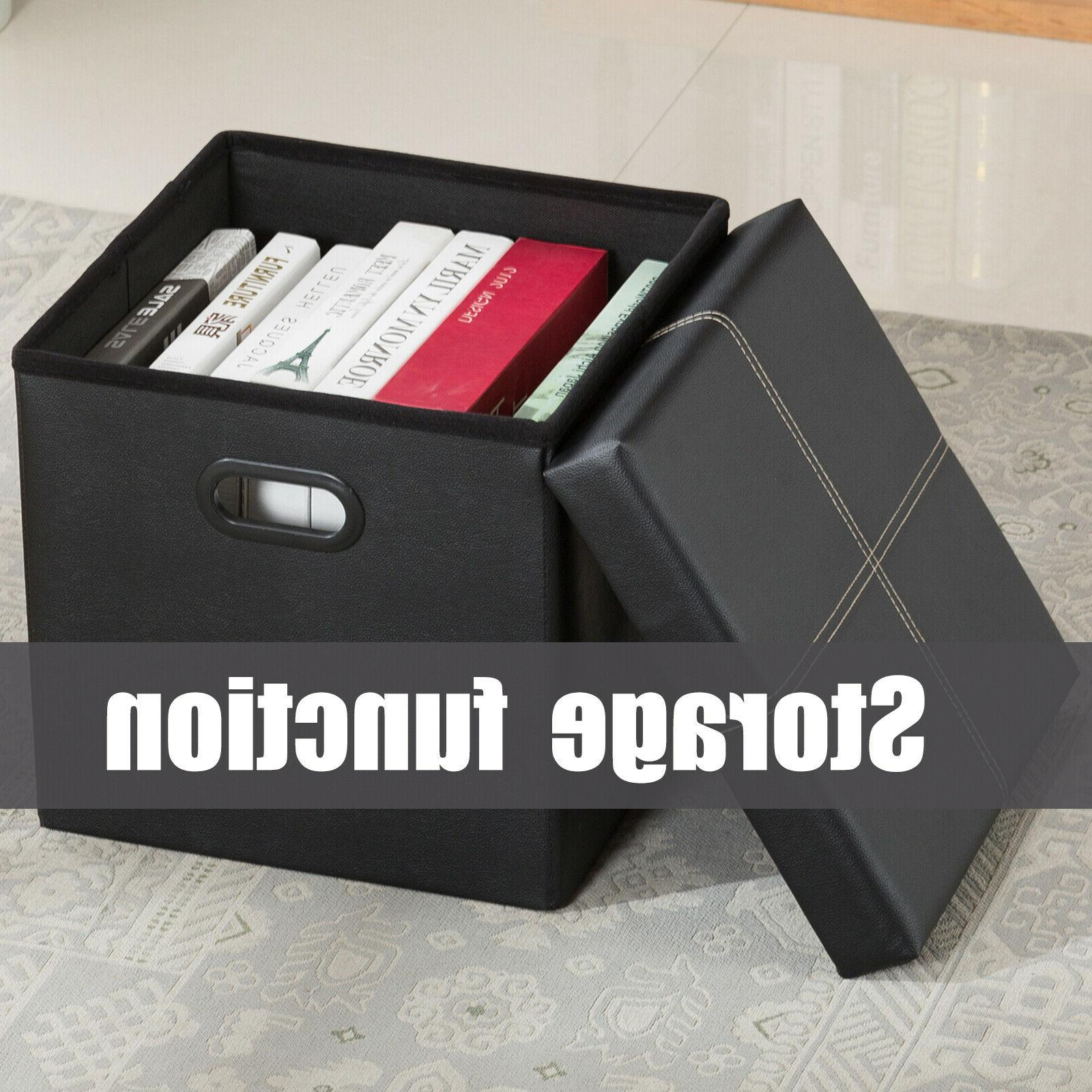 Folding Ottoman Box Rest Stool