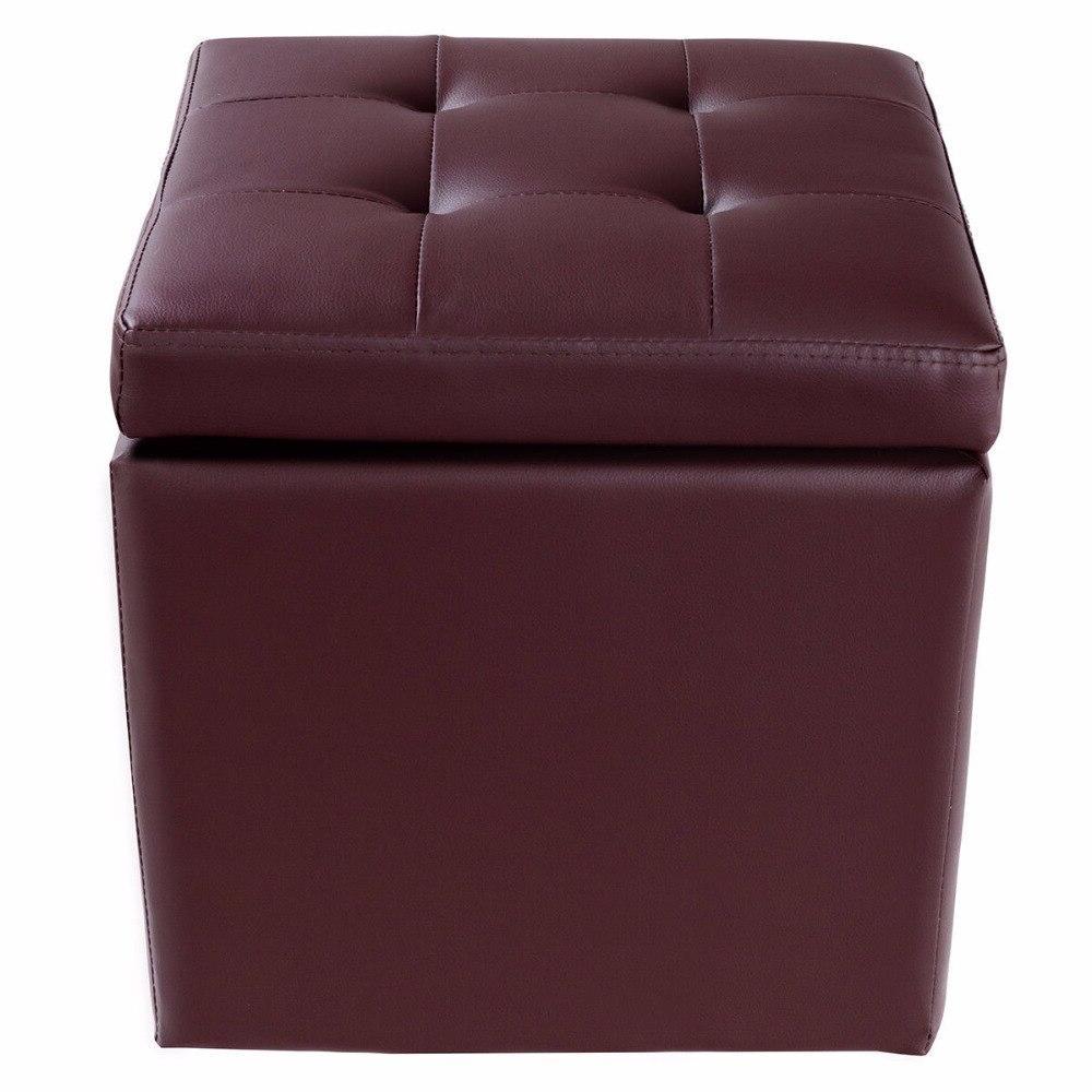 <font><b>Giantex</b></font> Ottoman Foot Stool Chair Lounge Cube Hinge Furniture HW56291BN