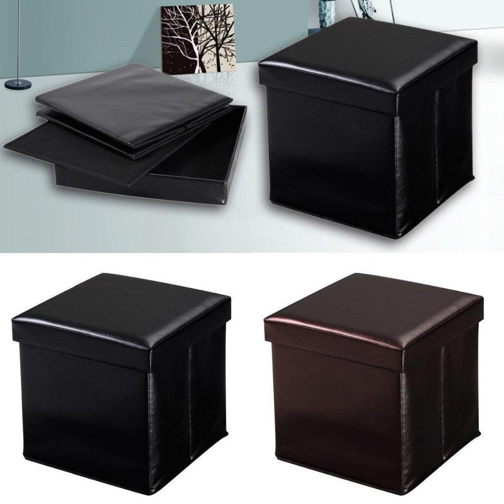 <font><b>Giantex</b></font> Leather Living Room <font><b>Storage</b></font> Lounge Footstools