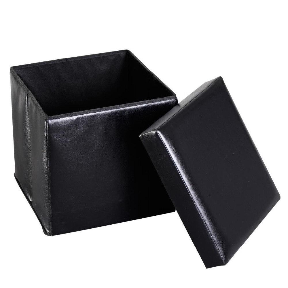 <font><b>Giantex</b></font> Folding Cube Leather Home Lounge Seat Footstools HW47612