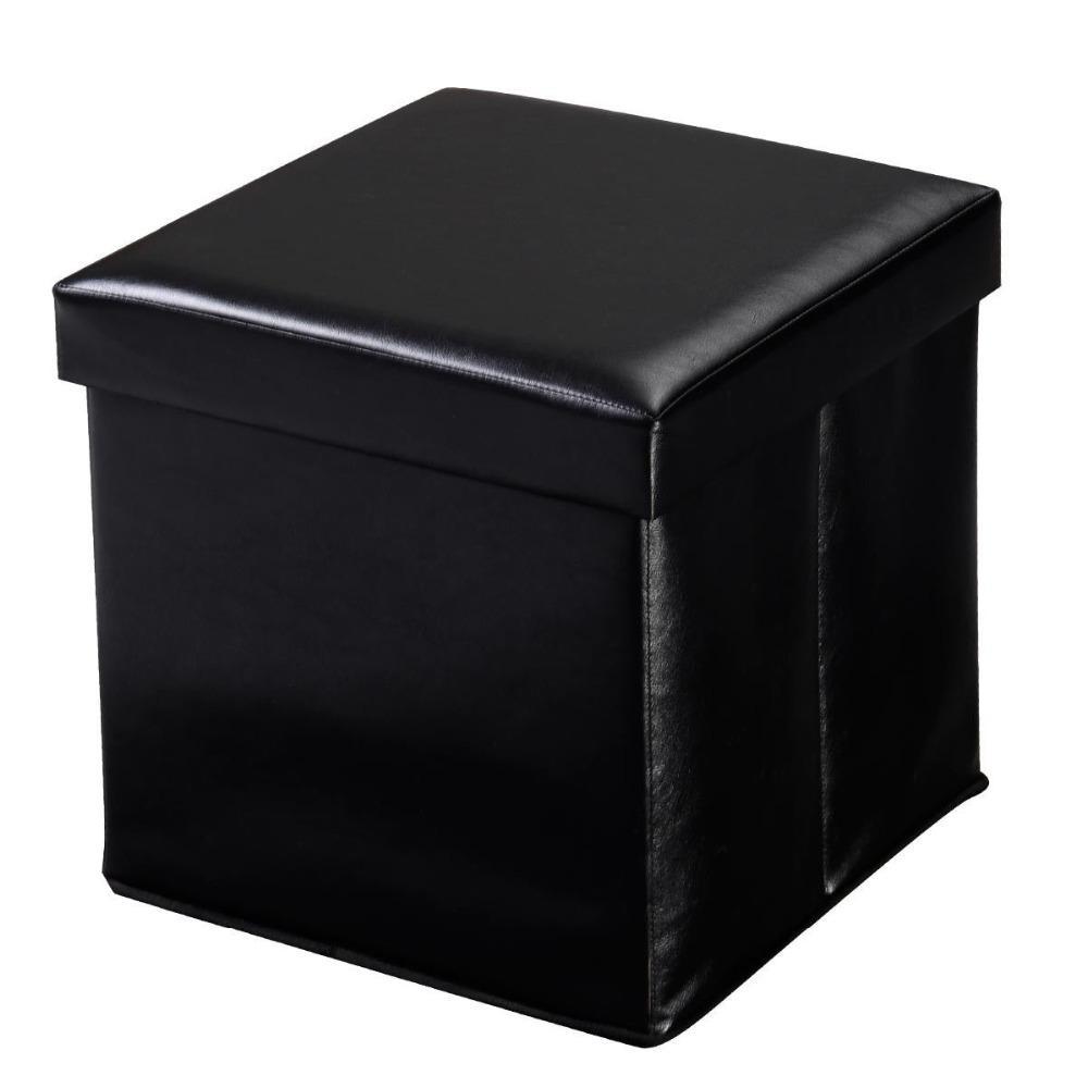 <font><b>Giantex</b></font> Cube Faux Leather Ottoman Pouffe Living Lounge Seat Modern Foldable