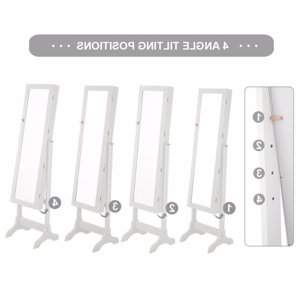 <font><b>Giantex</b></font> Mirrored Cabinet <font><b>Armoire</b></font> Organizer Box w/ Drawers White