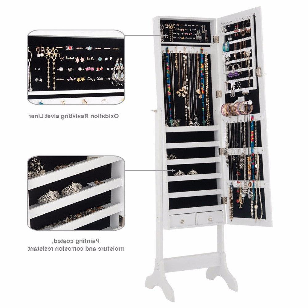 <font><b>Giantex</b></font> Lockable Box w/ Drawers White Home Furniture HW58853WH