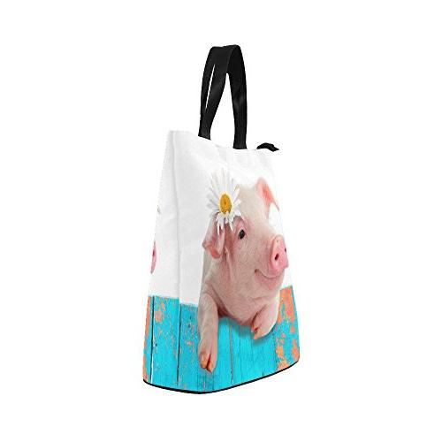 InterestPrint Flower Lunch Cute Pig Large