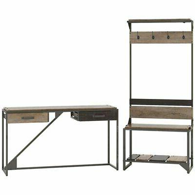 furniture refinery entryway storage set with console