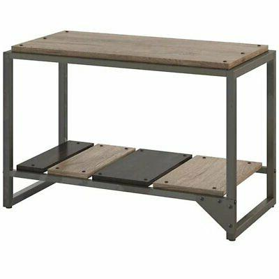 furniture refinery shoe storage bench in rustic