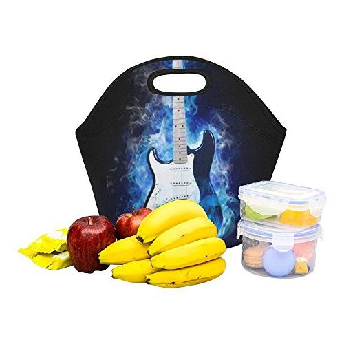 Gogogosky Electric Guitar Flames Lunch Box Food Savers Containers