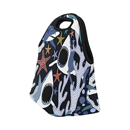 Gogogosky Neoprene Lunch Bag Box Lunch Tote