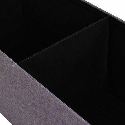 Gray Folding Bench Storage Stool Footrest Furniture