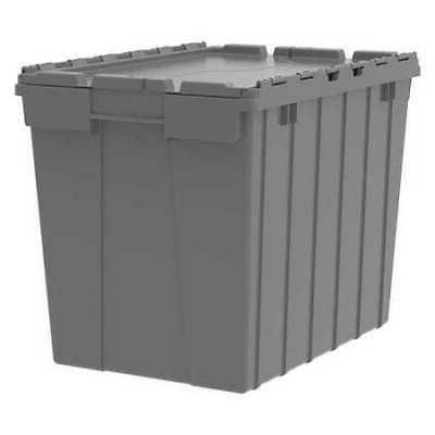 gray attached lid container