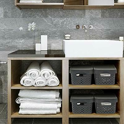 EZOWare Plastic Shelf Stackable Storage Organizer Baskets with for