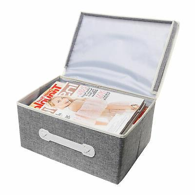 Gray Lidded Organizer Box