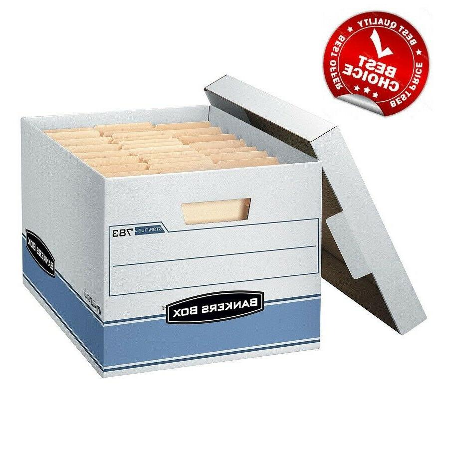 "Bankers Box Heavy Duty Storage Boxes, 10"" X 12"" X 15""  - Fre"
