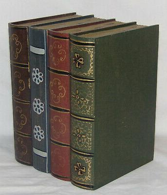 Hideaway Box Safe Wooden Book Storage Box NOS