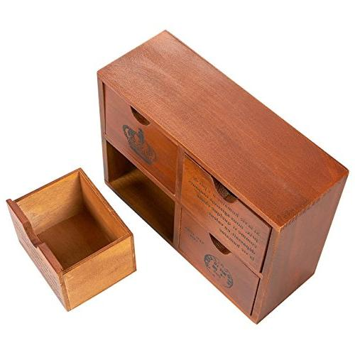 Set Drawer Wooden Small Desktop Jewelry - French and 3.8