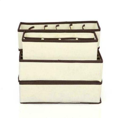 Home Foldable Storage Underwear Organizer Closet Divider