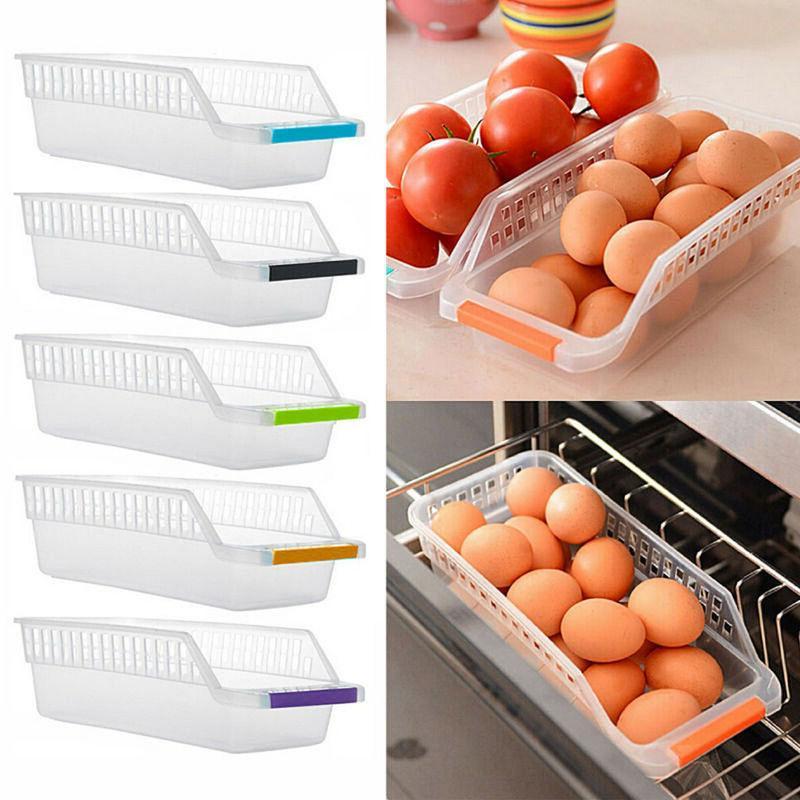 Kitchen Fridge Space Saver Organizer Slide Under Shelf Rack