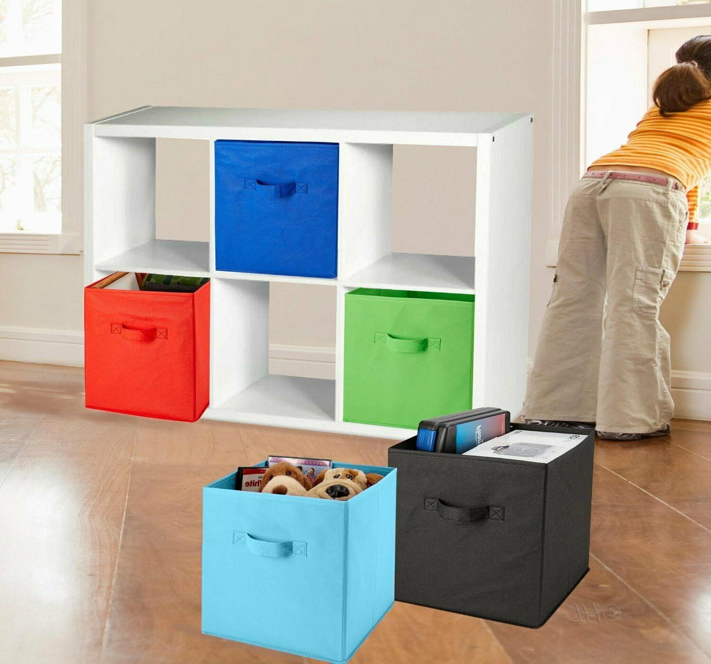 Home Bins Cubes Collapsible Fabric Shelf Organizer Basket