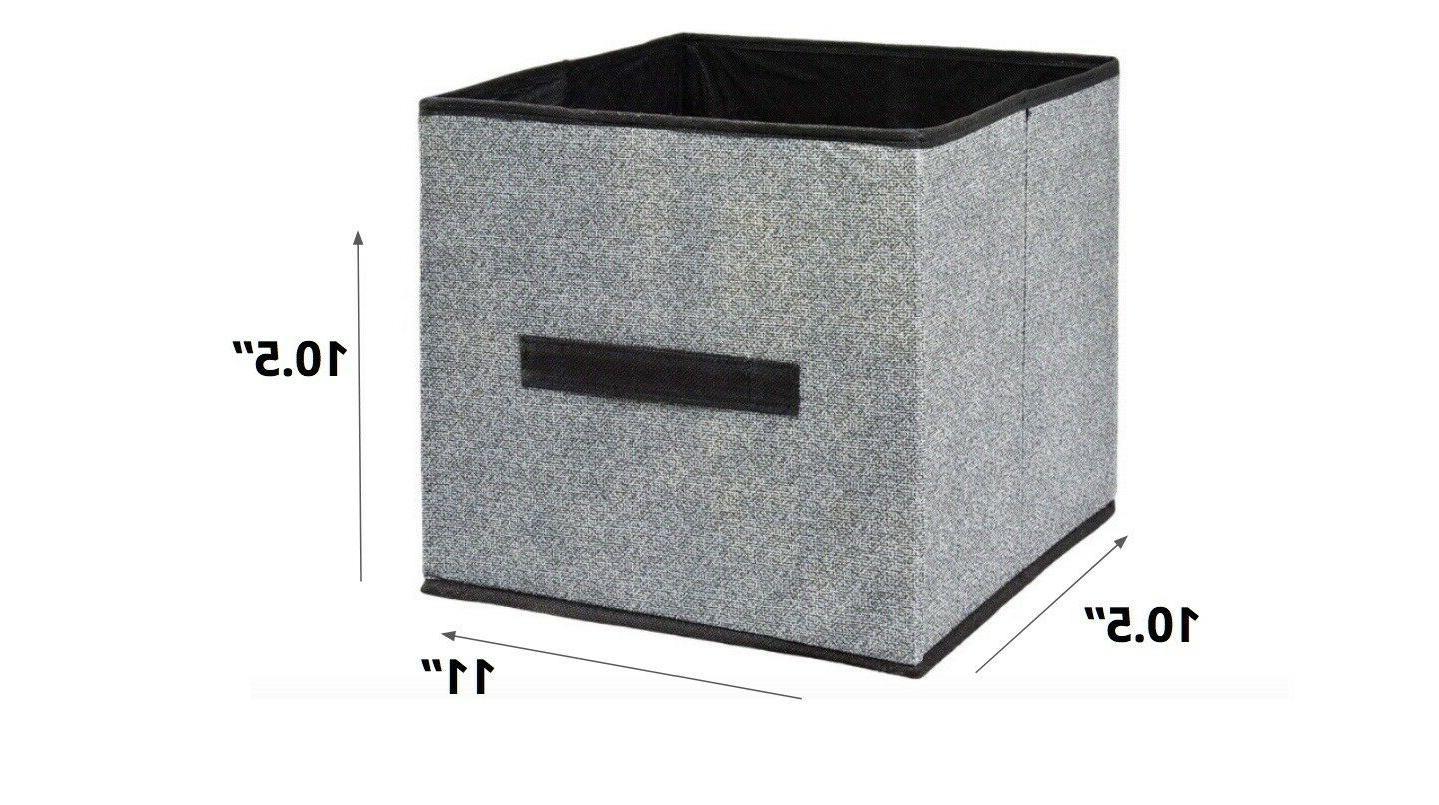 Collapsible Shelf Organizer Basket Boxes
