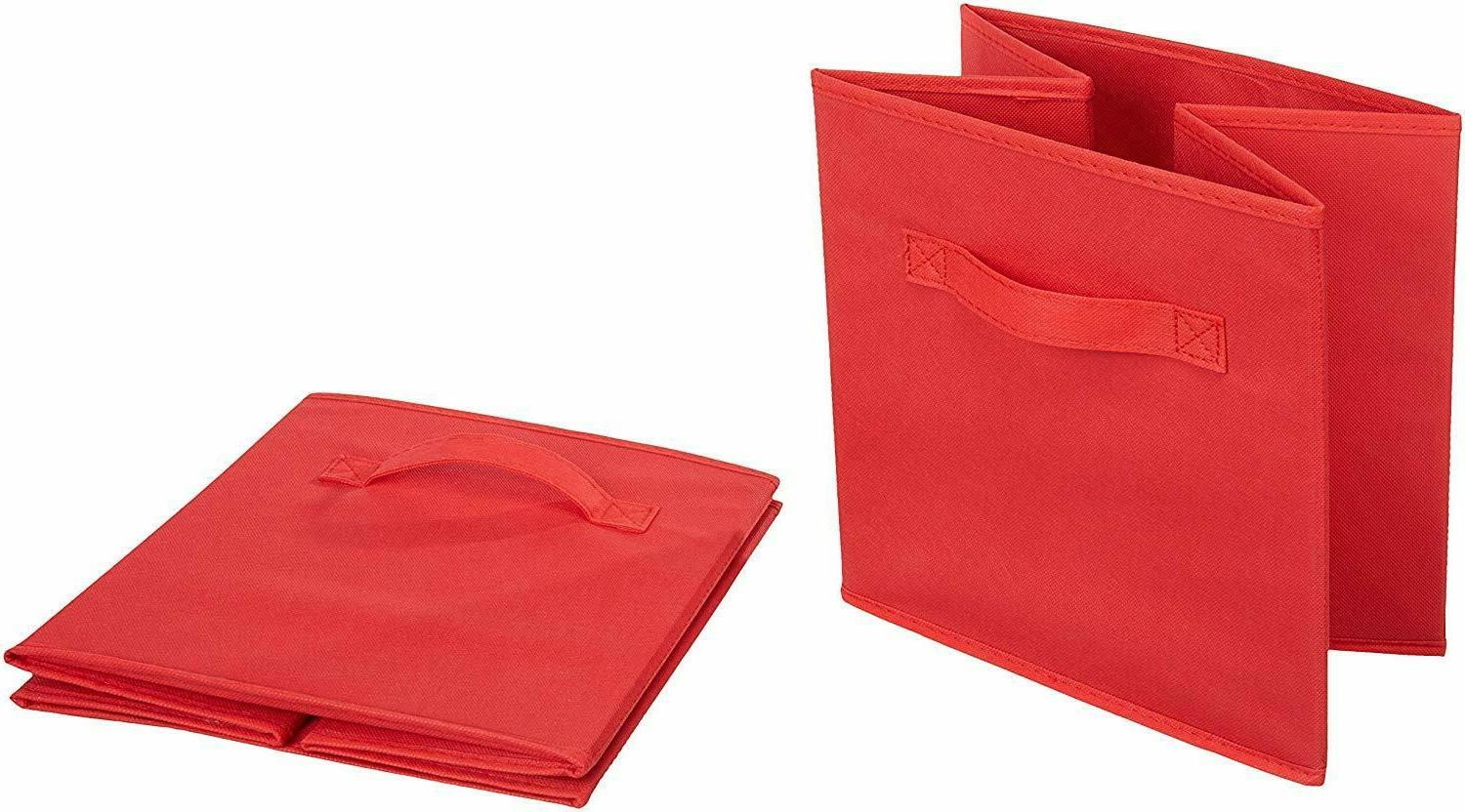 home storage bins cubes collapsible fabric shelf