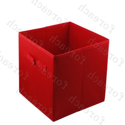 6 pcs Box Household Fabric Cube Basket