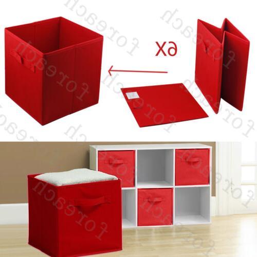 6 pcs Box Cube Bin Basket