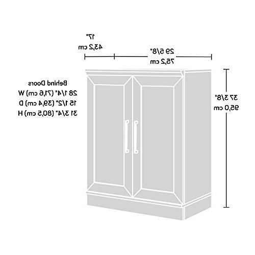 "Sauder Cabinet W: 17.01"" x H: 37.40"" Dakota"