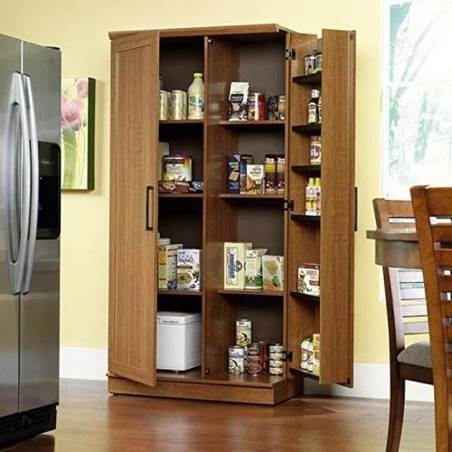 sauder homeplus storage cabinet in sienna oak brand
